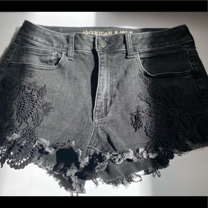 Lacey Black High Rise AE Shorts